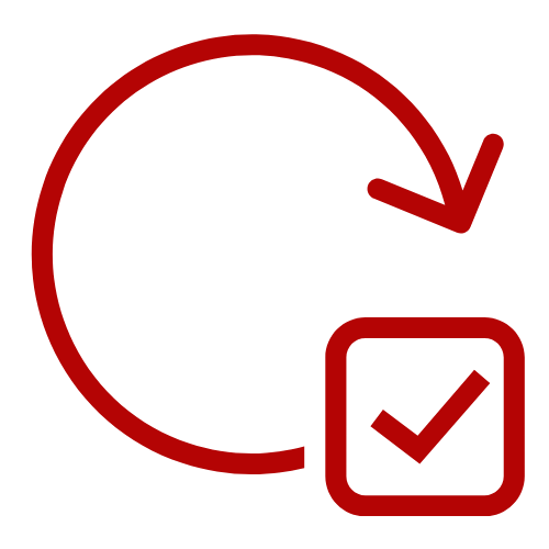 Checkmark with a circle